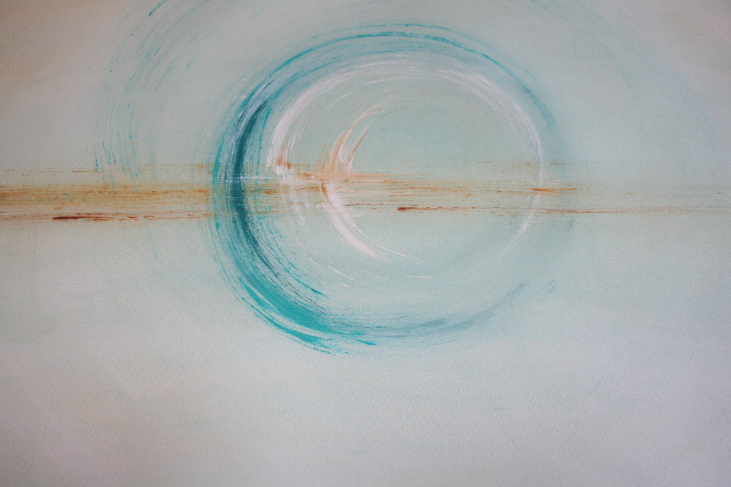 """Island"", aquarel 76x57 cm"